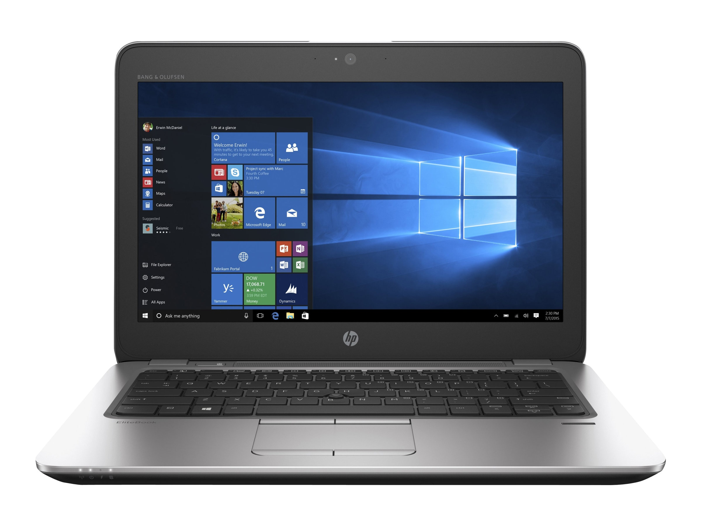HP EliteBook 820 G3 2.4GHz Core i5 12.5in display, V1H01UA#ABA