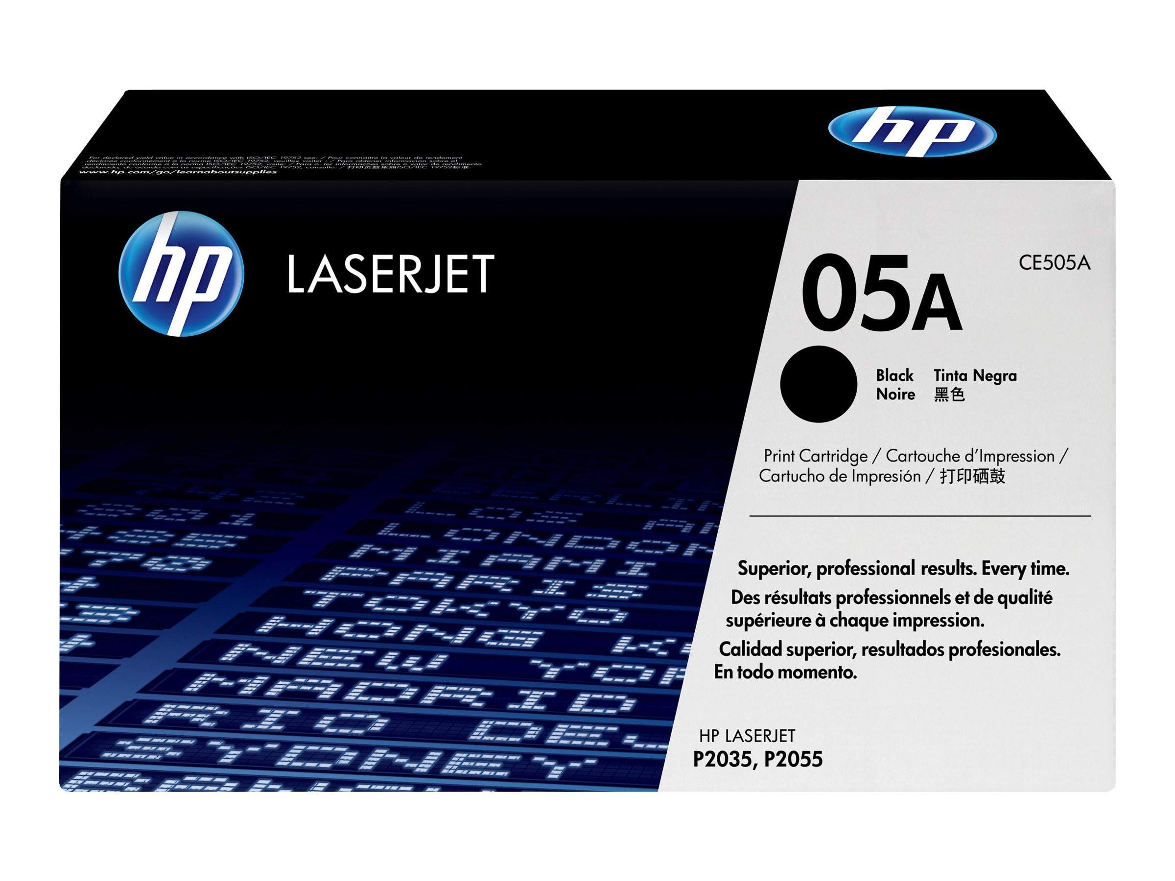 HP 05A (CE505A) Black Original LaserJet Toner Cartridge for HP LaserJet P2035 & P2055 Series Printers, CE505A, 8929025, Toner and Imaging Components