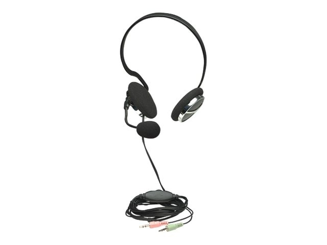 Manhattan Behind-The-Neck Stereo Headset w  Flexible Boom Microphone, 175524, 23205498, Headsets (w/ microphone)
