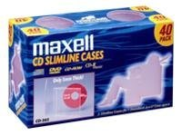 Maxell Clear Slim Jewel Cases (40-pack), 190074, 9706333, Media Storage Cases