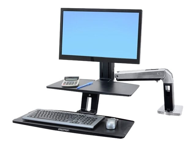 Ergotron WorkFit-A with Suspended Keyboard Tray, Single HD, 24-391-026