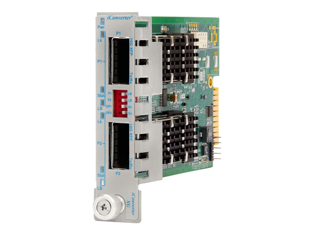 Omnitron iConverter XG+ XFP to XFP Plug-In Module, 8599N-11, 13170720, Network Transceivers