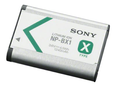 Sony Rechargeable Lithium-Ion Battery Pack 3.6V, 1240mAh, NPBX1/M8, 15486091, Batteries - Camera