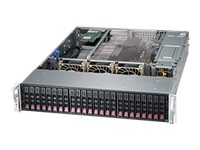 Supermicro SuperChassis 216BE16 2U RM (2x)Intel AMD 24x2.5 HS Bays 7xExpansion Slots 3xFans 2x1280W RPS