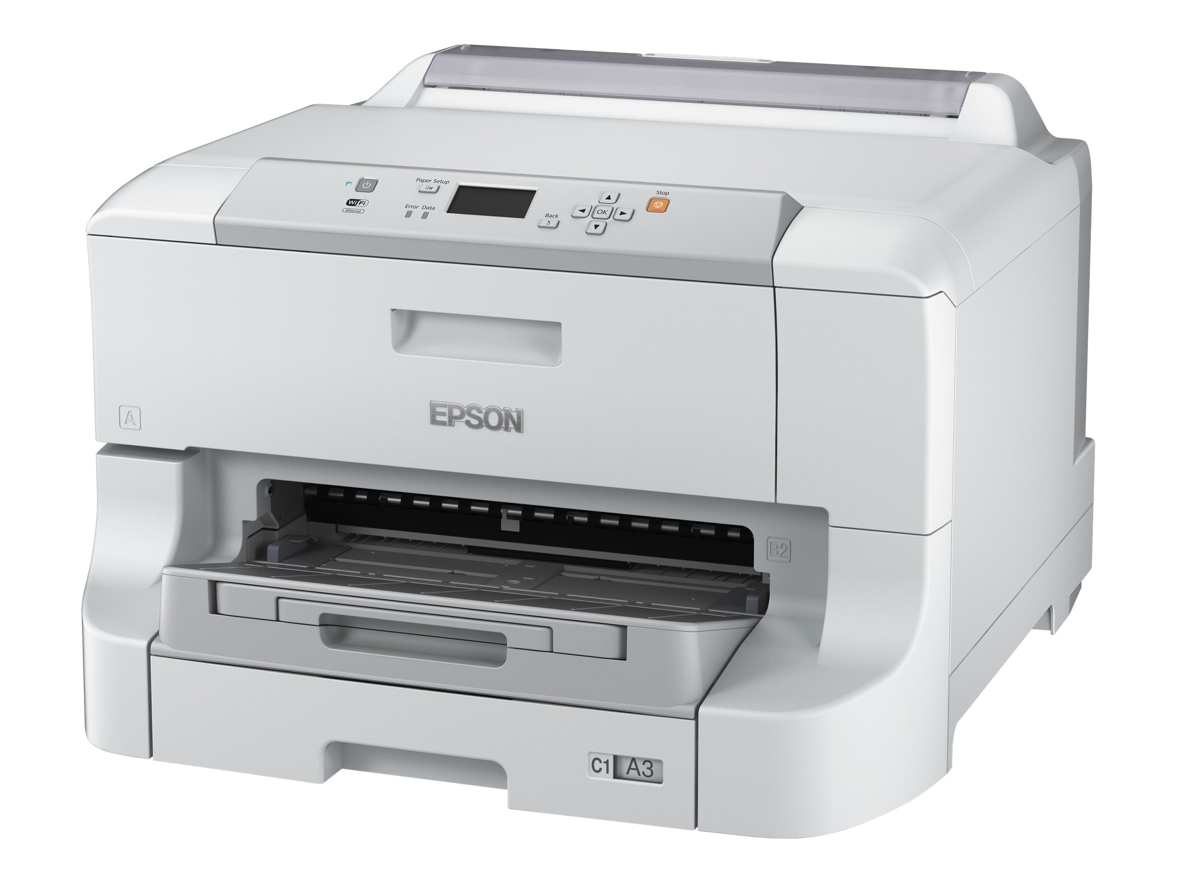 Epson WorkForce Pro WF-8090 Network Color Printer w  PCL PostScript, C11CD43201, 30733678, Printers - Ink-jet
