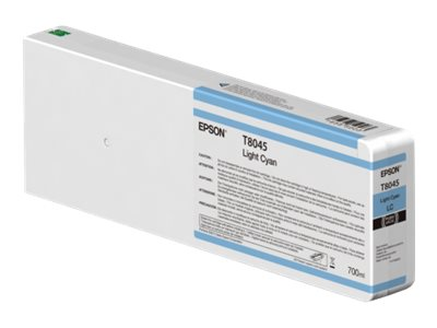 Epson Light Cyan Ultrachrome HDX 700ml Ink Cartridge for SureColor P6000, P7000, P8000 & P9000 Printer, T804500