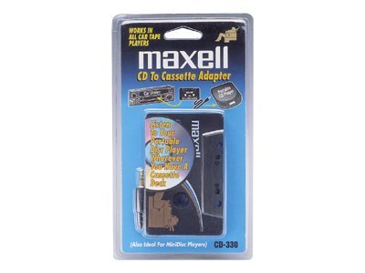 Maxell CD to Cassette Car Adapter - White