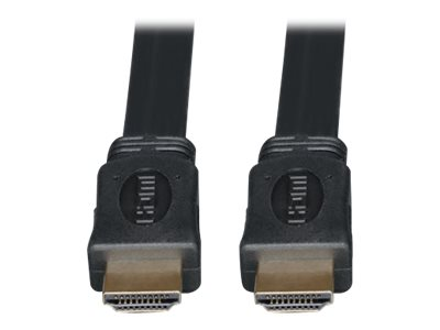 Tripp Lite Ultra HD 4Kx2K High Speed HDMI M M Digital Video Flat Cable with Audio, Black, 16ft, P568-016-FL, 7954042, Cables