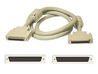 C2G LVD SE MD68M M SCSI Cable with Ferrites, 12ft Beige, 28144, 7173158, Cables