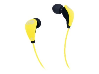 Mizco ECKO Glow In-Ear Headphones, Yellow, EKU-GLW-YLW