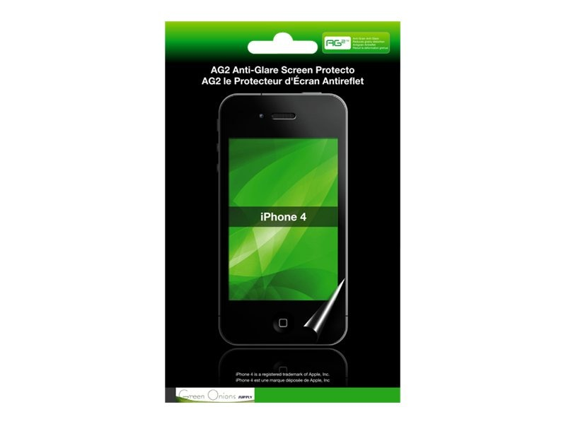 Green Onions Supply Anti-Glare Screen Protector for iPhone 4G, RT-SPIP402, 15200144, Glare Filters & Privacy Screens