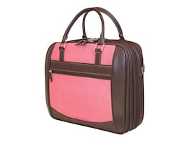 Mobile Edge ScanFast Element Checkpoint Friendly Briefcase, Pink Suede, MESFEBX, 9301977, Carrying Cases - Notebook