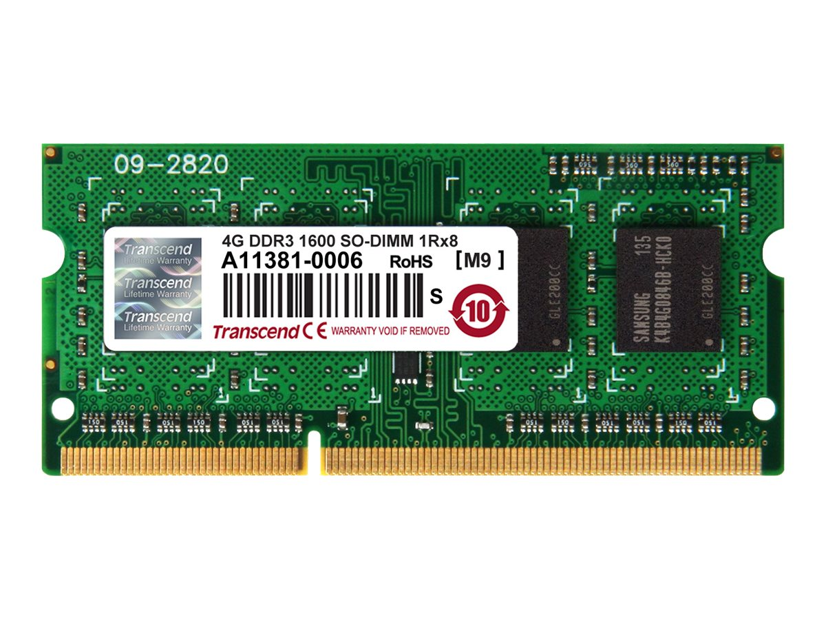 Transcend 4GB PC3-12800 204-pin DDR3 SDRAM SODIMM, TS512MSK64V6H