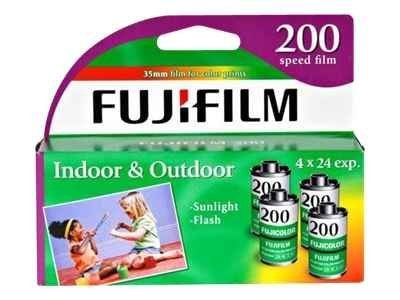 Fujifilm Superia 35mm Color Print Film. 200 ASA, 24-Exposures, 4-Pack, 15717646, 10710591, Camera & Camcorder Accessories