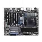 Gigabyte Tech Motherboard, AMD 990FX, AM3+ FX, ATX, Max 32GB DDR3, 5PCIEX16, PCIEX, PCI, GBE FW, Audio, SATA3, GA-990FXA-UD5, 12977951, Motherboards
