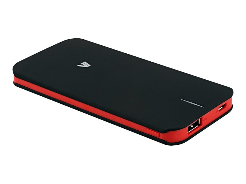V7 Powerbank 5000mAh 1-Port Li-Polymer Battery, Black Red, PB5000-1-BLK-20N, 23951239, Batteries - Other