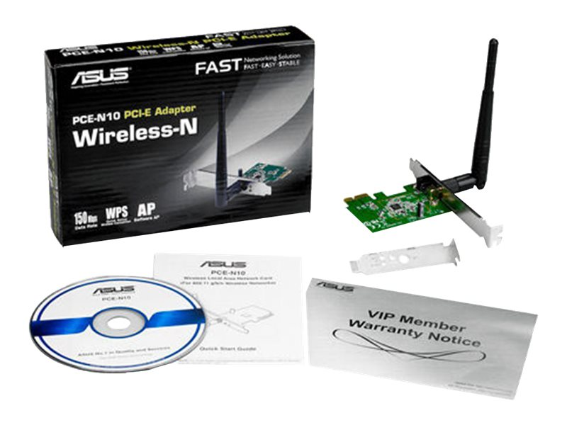 Asus Wireless PCIe 2.4GHz Adapter, PCE-N10