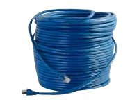 C2G Cat6 Solid Shielded Patch Cable, Blue, 300ft