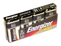 Energizer Battery, 9V Alkaline (4-pack)