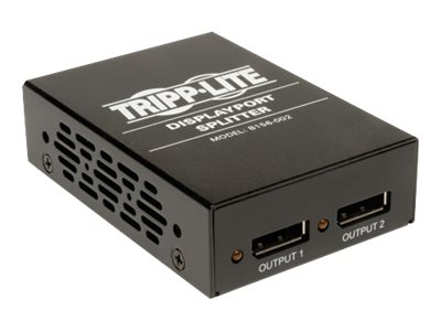 Tripp Lite 2-Port DisplayPort Splitter, 1920x1080 at 60Hz, TAA, GSA, B156-002, 15785429, Video Extenders & Splitters
