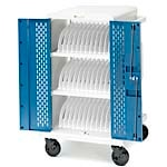 Bretford Manufacturing 36-Unit Chromebook Charging Cart with Swivel Casters, Locking Access Door