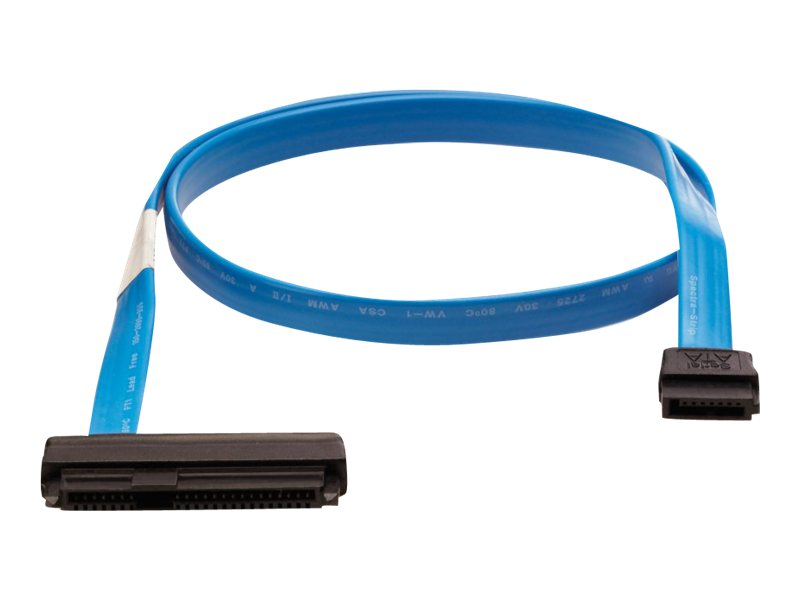 HPE SAS cable, Int. Drive SFF8482, split to 2 x Internal SFF8484, 1m