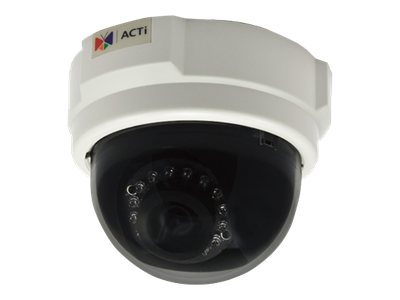 Acti 3MP Indoor Dome Camera w  D N, IR, Basic WDR & Fixed Lens, E53, 15593187, Cameras - Security