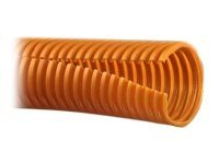 Panduit Slit Wall Corrugated Loom Tubing, Orange, 10ft