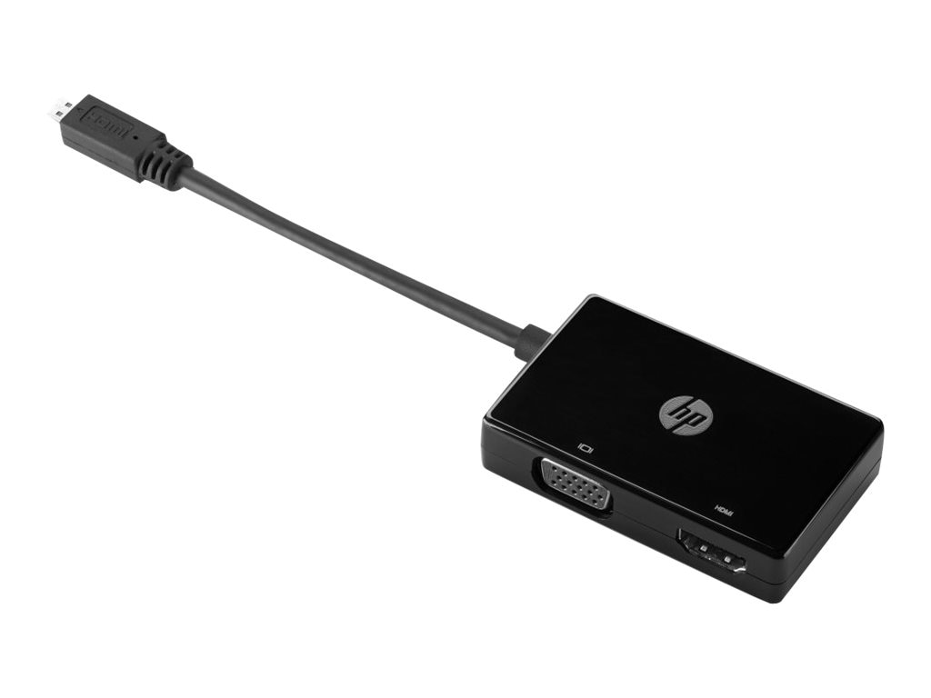 HP Micro HDMI to VGA HDMI M F Adapter, Black
