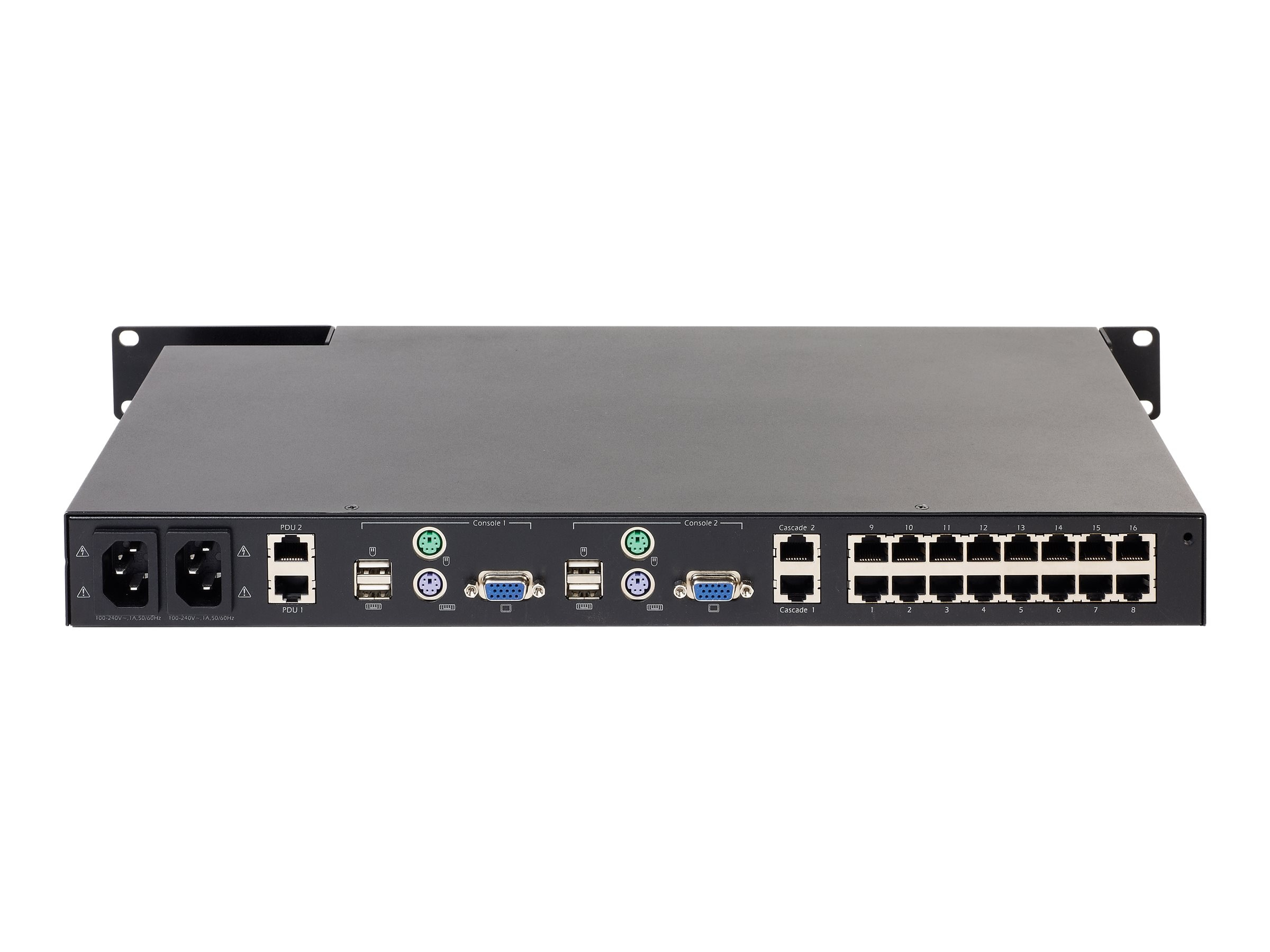 APC KVM 2G, Enterprise Analog, (2) Local Users, (16) Ports with Virtual Media, KVM0216A