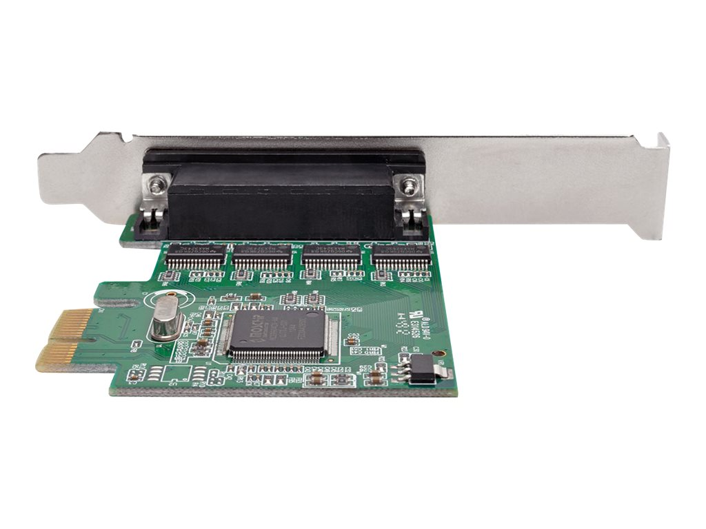 Tripp Lite 4-Port DB9 Serial PCI Express Full Profile Card with Breakout Cable, PCE-D9-04-CBL