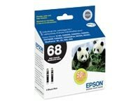 Epson Black High-Capacity Ink Cartridges for Stylus CX5000, CX6000 & CX7000F Printers (Dual Pack)