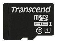Transcend 16GB microSDHC UHS-I Memory Card with MicroSD Adapter, Class 10, TS16GUSDU1, 21326819, Memory - Flash