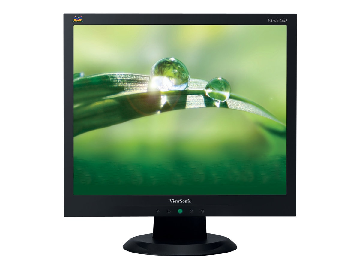 ViewSonic 17 VA705-LED LED-LCD Monitor, TAA, VA705-LED, 14436471, Monitors - LED-LCD