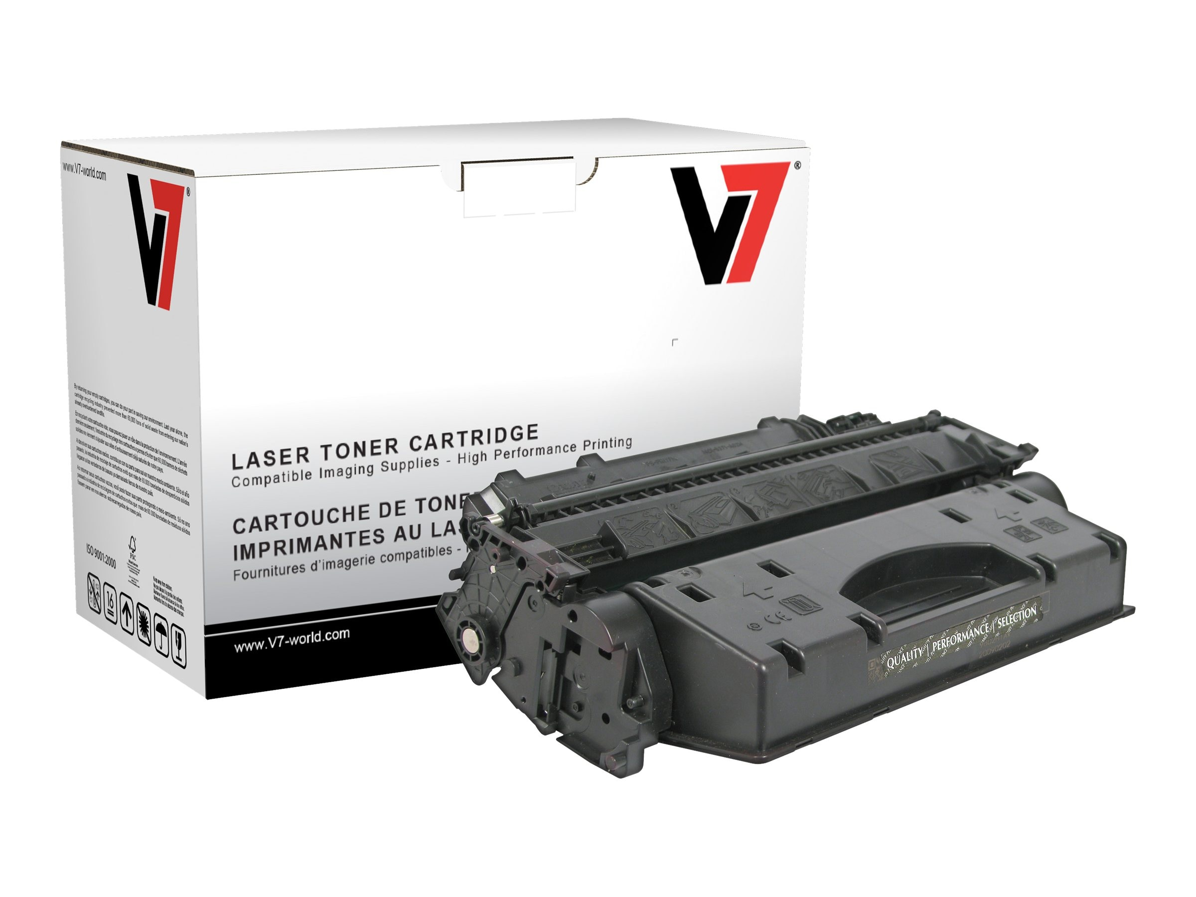 V7 2617B001AA Black Toner Cartridge for Canon imageClass D1120 (TAA Compliant), TCK22617, 13731671, Toner and Imaging Components