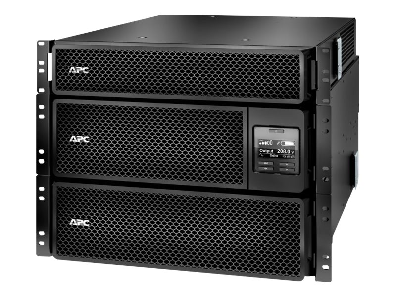 APC Smart-UPS SRT 8kVA 8kW 208V RM Online UPS HW Input HW+ (4) L6-20R (2) L6-30R, Step-down Transformer, SRT8KRMXLT-5KTF, 30731269, Battery Backup/UPS