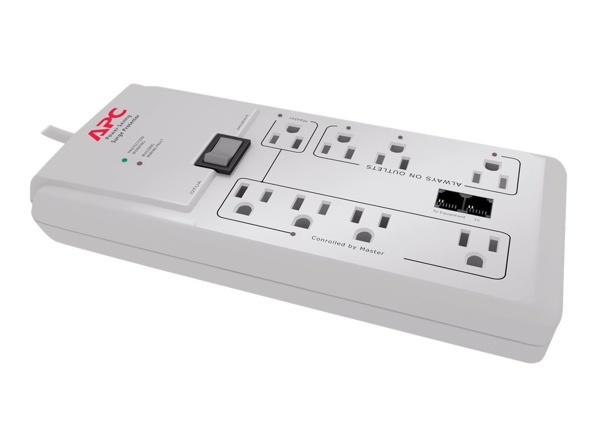 APC Power-Saving Home Office SurgeArrest, 2030 Joules, (8) Outlets, P8GT, 10877017, Surge Suppressors