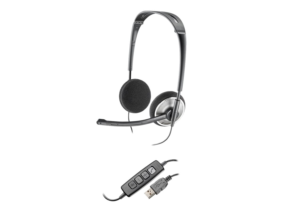 Plantronics .Audio 478 Stereo USB Headset, 81962-21, 13619611, Headsets (w/ microphone)