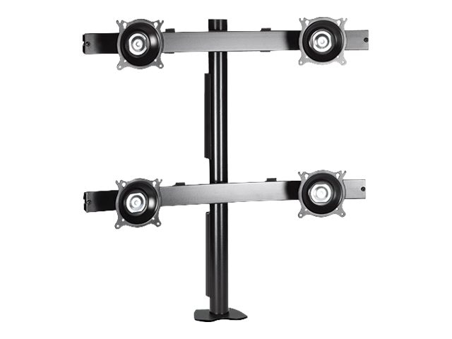 Chief Manufacturing Quad Monitor Desk Clamp Mount for 1024 Displays, Silver