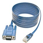 Tripp Lite RJ-45 to DB9 M F Cisco Serial Console Port Rollover Cable, Blue, 6ft