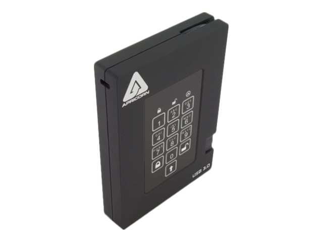 Apricorn 2TB Aegis Padlock USB 3. 0 FIPS Validated Hardware Encrypted External Solid State Drive, A25-3PL256-S2000F