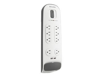 Belkin Surge Protector (8) Outlets 6ft Cord 2000 Joules Telephone Protection, BSV801-06-WM