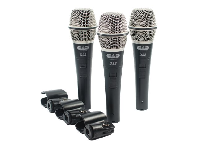 CAD Microphones Supercardiod Dynamic Mic, D32X3
