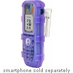 Zcover Dock-in-Case Rugged Silicone Case w  Universal Belt Clip for ASCOM d62 i62 Handset, Purple, AS62AHNU, 21727487, Carrying Cases - Phones/PDAs
