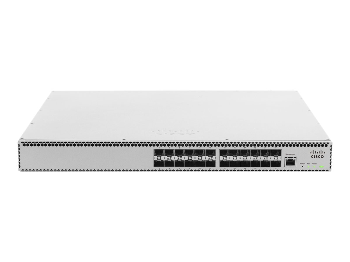 Cisco Meraki Cloud Managed Aggregation Switch 24 Port 10 GbE Aggregation Switch- 100 Available And Ship Direct, MS420-24-HW, 16631616, Network Switches