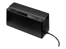 APC Back-UPS 600VA 330W 120V, 5-15P Right-angle Input Plug, (7) 5-15R Outlets, (1) USB Charging Port, BE600M1, 32142388, Battery Backup/UPS