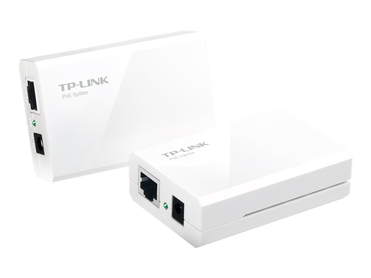 TP-LINK Power over Ethernet Adapter Kit, 1 Injector, 1 Splitter, up to 100m, 12 9 5V power output, TL-POE200