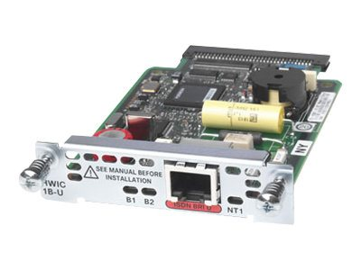 Cisco 1-Port ISDN BRI U High-Speed WAN Interface Card, HWIC-1B-U, 9016181, Network Device Modules & Accessories