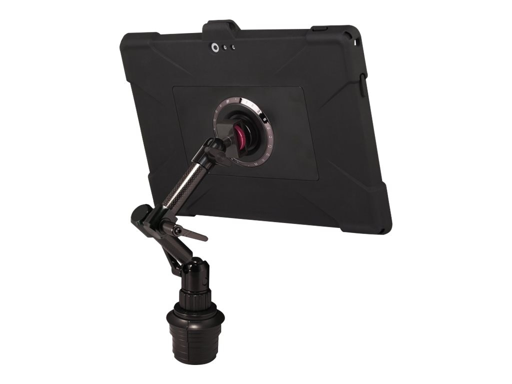 Joy Factory MagConnect Edge M Cup Holder Mount with Ultra-Slim Rugged Case for Surface Pro 3