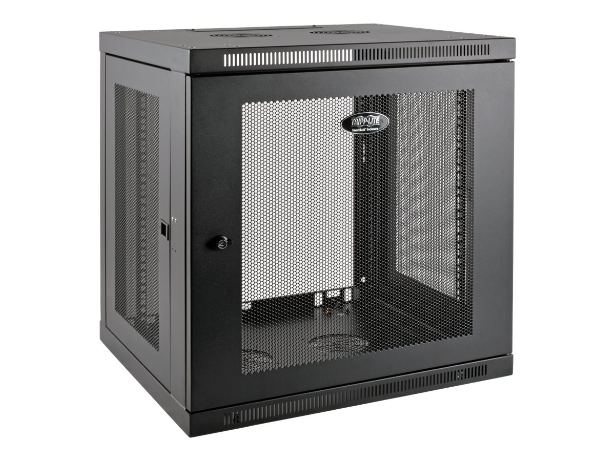 Tripp Lite SmartRack 12U Low-Profile Switch-Depth-Plus Wall-Mount Rack Enclosure Cabinet